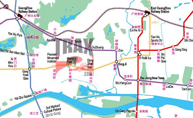 Guangzhou Metro China Latest Guangzhou Metro Subway Map
